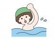 水泳・シンプルなクロールのイラスト