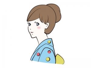 浴衣を着ている女性のイラスト