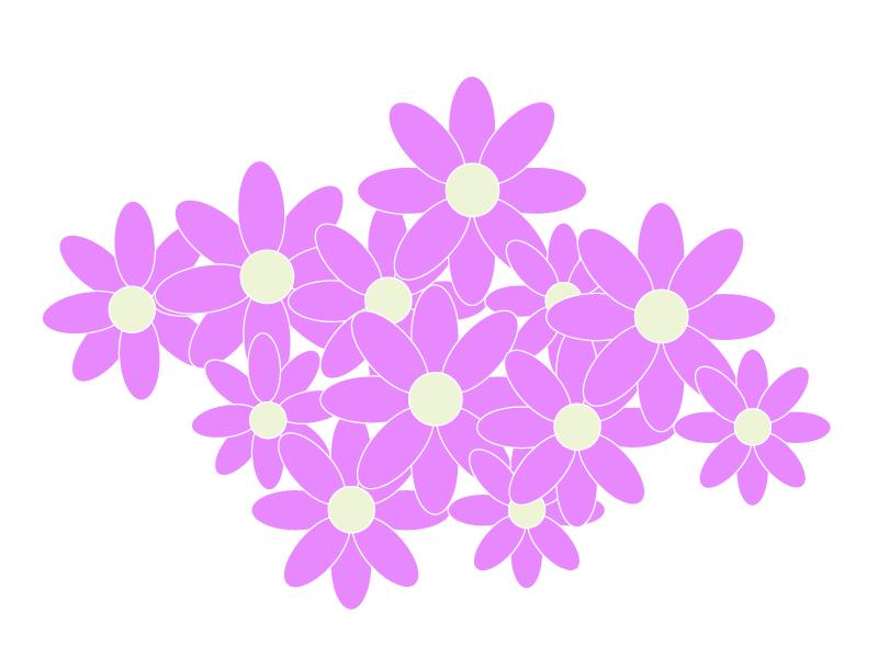 たくさんの紫色の小花のイラスト02