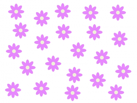 たくさんの紫色の小花のイラスト03