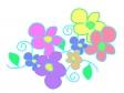 ツタと花の模様のイラスト02