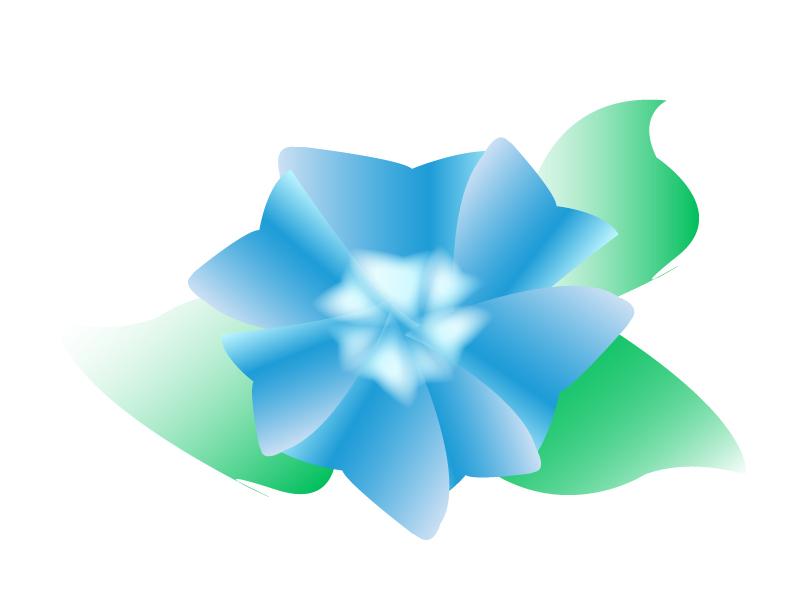 青色の紫陽花のイラスト02