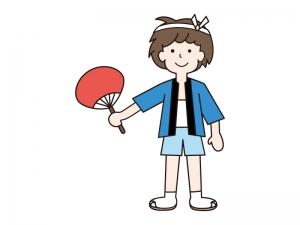 夏祭り・はっぴを着た男の子イラスト