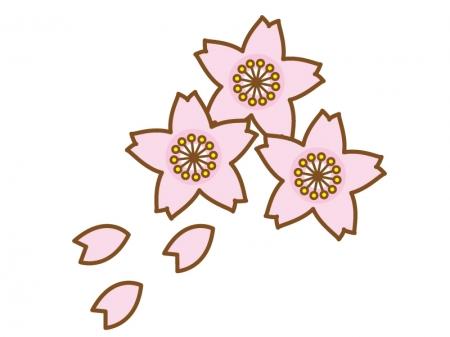 桜の花びら・春のイラスト04