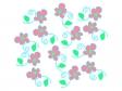 ピンク色の小花のイラスト04