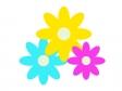 三色の小花のイラスト