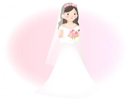 花嫁さんの立ち姿のイラスト