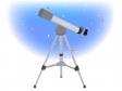 天体望遠鏡と夜空のイラスト