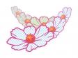 水玉模様にしたコスモス(秋桜)のイラスト