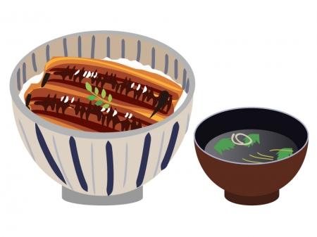 カレンダー 2015年カレンダーデータ : うな丼と肝吸いのイラスト ...