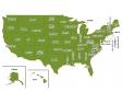 アメリカ合衆国(州別)の地図イラスト素材