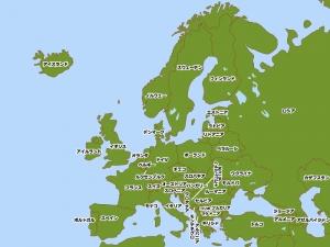 ヨーロッパ(欧州)の地図イラスト素材