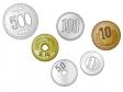 散らばった硬貨・お金のイラスト