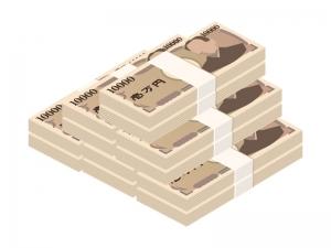 積み上げた札束・お金のイラスト02