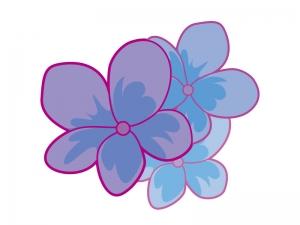 たくさんのスミレの花びらのイラスト