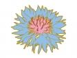 青いヤグルマギクの花のイラスト