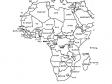 アフリカ大陸の白地図イラスト素材