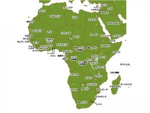 アフリカ大陸の地図イラスト素材