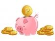 お金・ポイント・金貨・コインとブタの貯金箱のイラスト