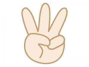 手・3・指のイラスト