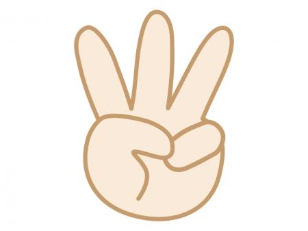 手・3・指のイラスト | 無料の ... : 都道府県地図無料 : 無料