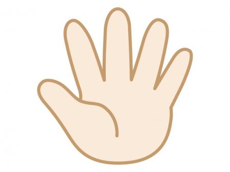 手・5・パー・ストップなどの指のイラスト
