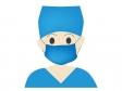 手術着の医師のイラスト