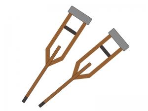 松葉杖のイラスト02
