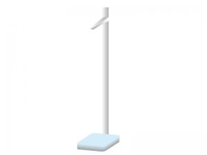 身長測定器のイラスト