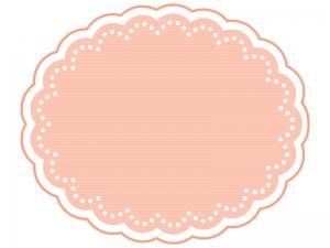 ホワイトドット線のピンクのフレーム