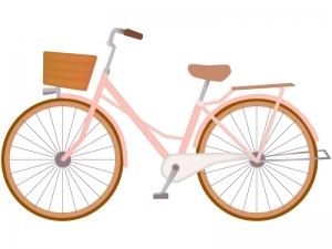 ピンクの自転車のイラスト