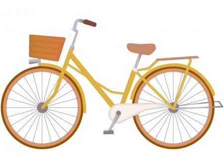 黄色い自転車のイラスト