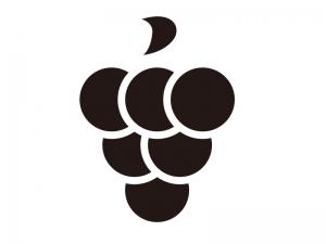 ぶどう(葡萄)・グレープ・果物のシルエットイラスト