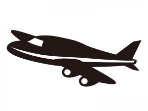 飛行機イラスト・シルエット02