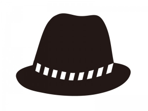 帽子・ハットのシルエットイラスト