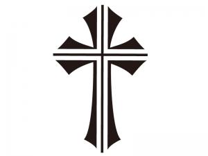 十字架のシルエットイラスト
