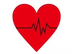 心電図をイメージしたハートのイラスト