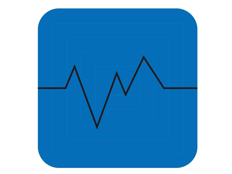 心拍数をイメージしたイラストアイコン