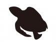 ウミガメのシルエットのイラスト