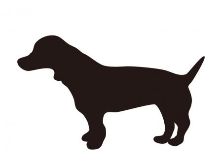 犬のシルエットのイラスト