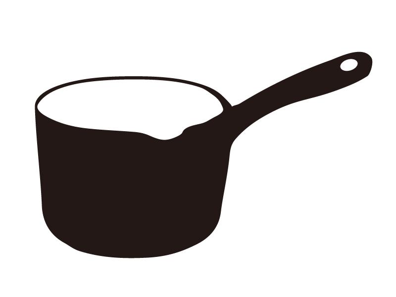 片手鍋のシルエットイラスト