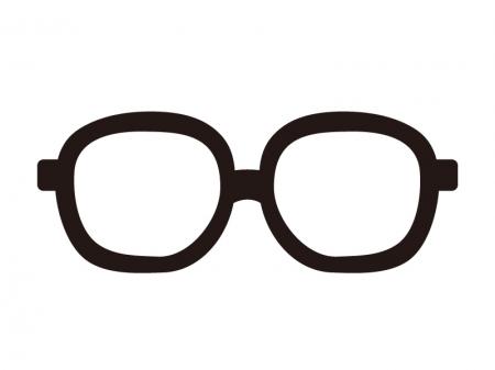メガネのシルエットイラスト