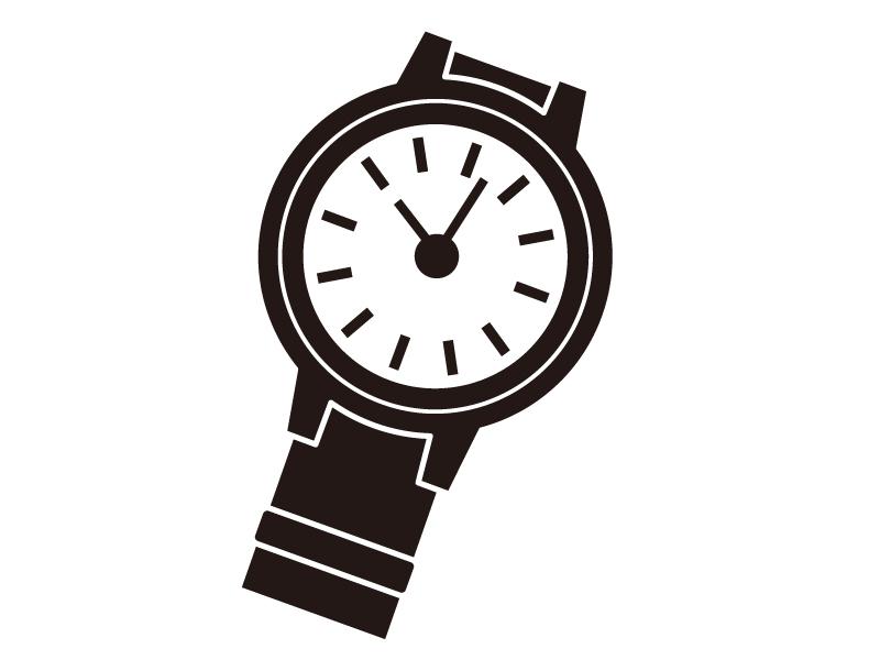腕時計のシルエットイラスト