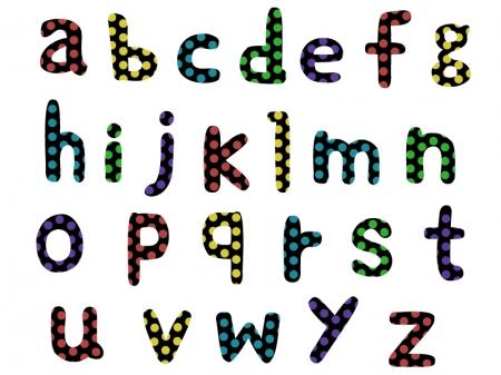アルファベット(小文字)の文字イラスト
