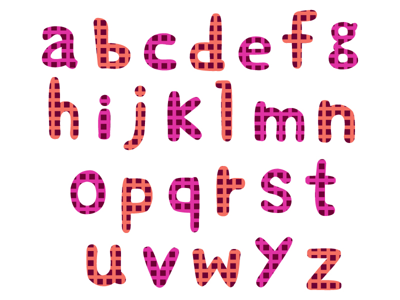 アルファベット(小文字)の文字イラスト04