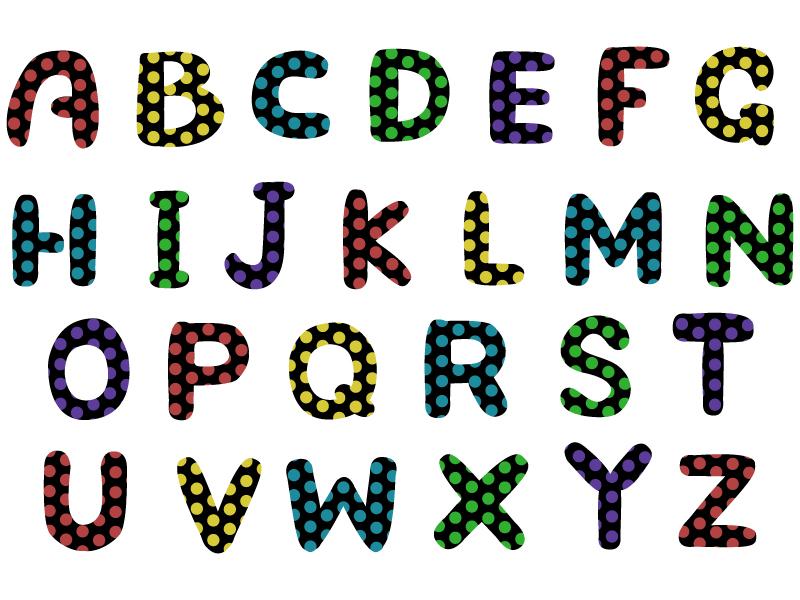 アルファベット(大文字)の文字イラスト01