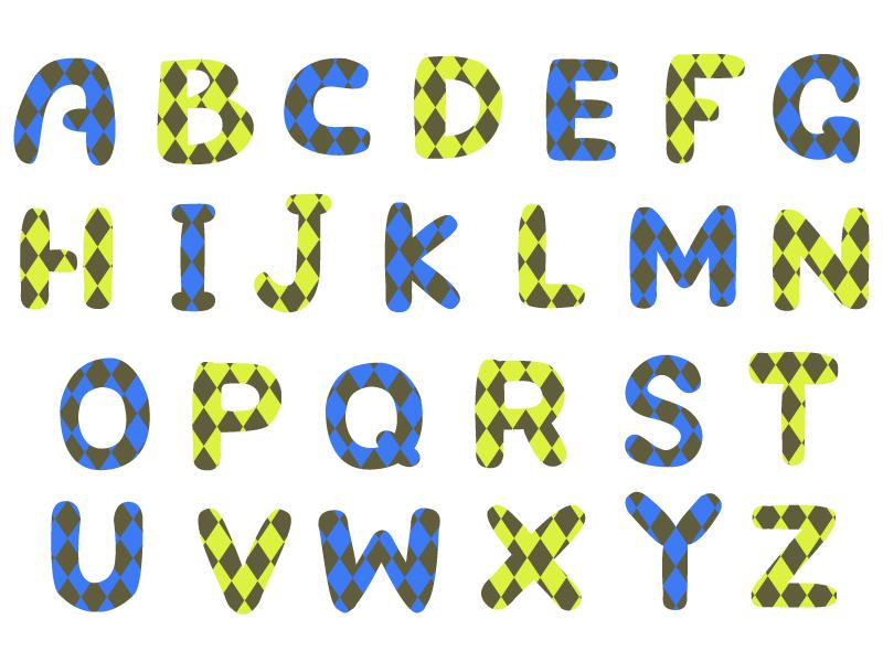 アルファベット(大文字)の文字イラスト02
