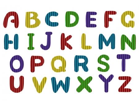 アルファベット(大文字)の文字イラスト05