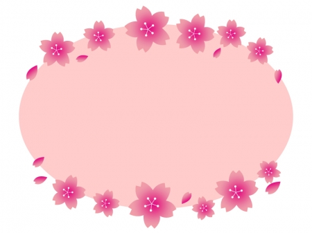 桜のフレーム・飾り枠素材05