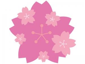 桜のフレーム・飾り枠素材06